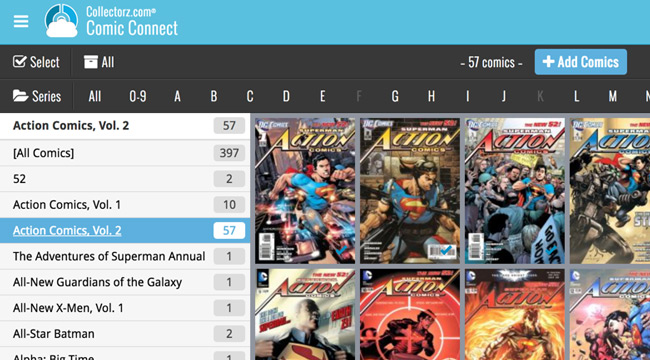 Online Comic Book Database Software Comic Connect