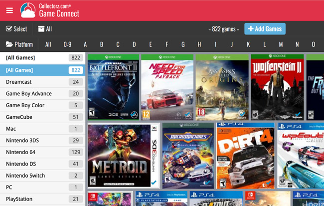 Online video game database software » Game Connect